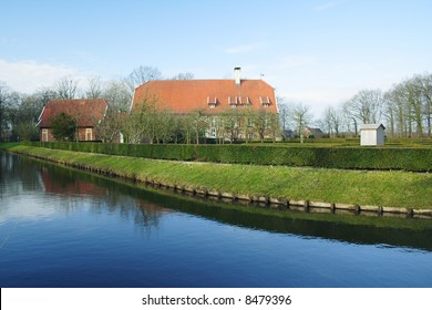 house with park and water in Germany, Munster