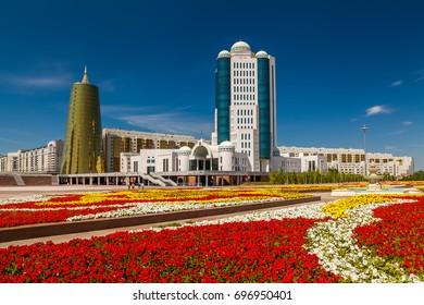 House of Parliament of the Republic of Kazakhstan. Kazakhstan, Astana, July 24, 2017