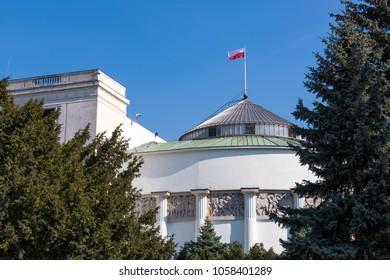 House of Parliament, Sejm, Wiejska street, Poland