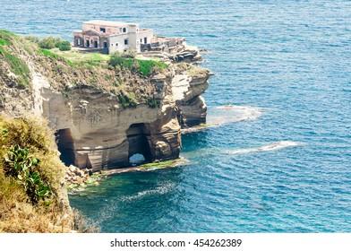 House to peak on the sea