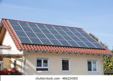 House with photovoltaic system