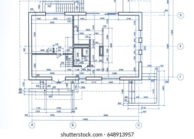 house plan blueprint. technical drawing. part of architectural project.