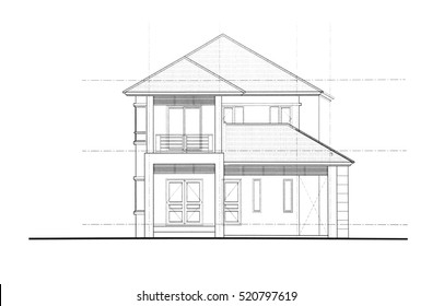 House Plan   Front View