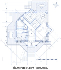 House blueprint stock images royalty free images vectors house plan vector blueprint bitmap copy my vector id 14377873 malvernweather Gallery