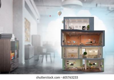 House project and design . Mixed media