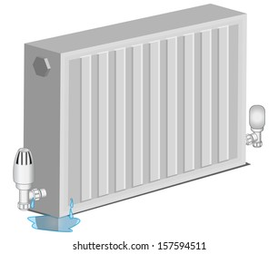House Radiator Leakage - Illustration