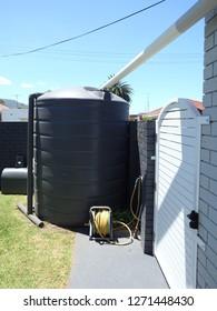 House rain water tank system