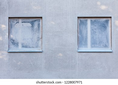 House renovation window protected with plastic film