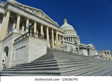 House of Representatives and US Capitol Building, Washington DC, United States