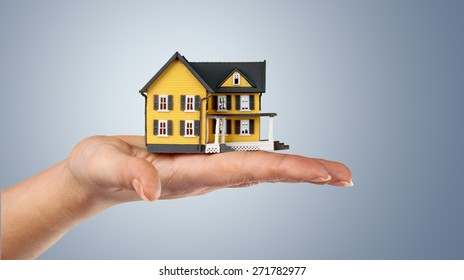 House, Residential Structure, Human Hand.