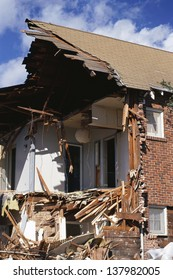 House ripped apart by natural disaster