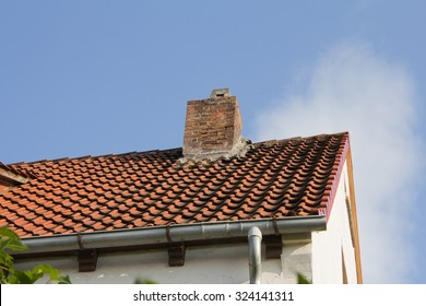 House roof with chimney