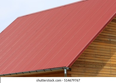 The house roof is from galvanized steel with polymer coating corrugated sheet