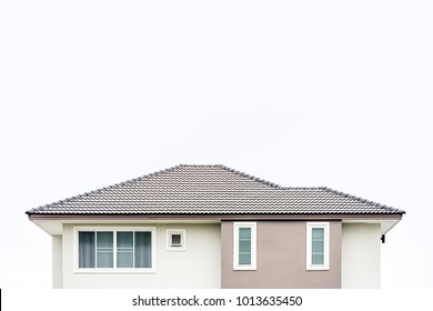 House roof on white background.