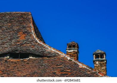 House roof in Sibiu, Romania