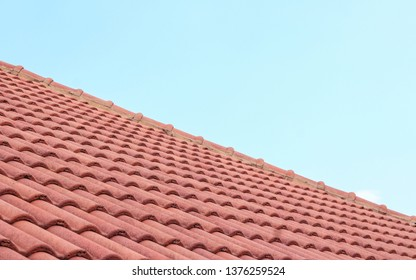 House roof tiles and sunshine