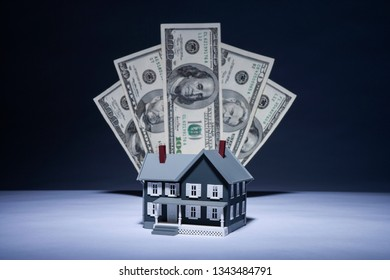 House Sale Concept, Real Estate Sale. Home and Money.