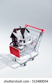 House in a shopping cart concept.