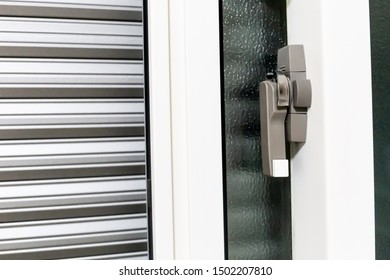 House shutter. Security window shutters and windows in Japanese residences.