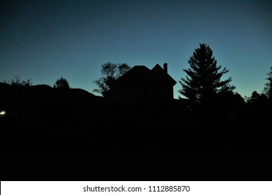 house silhouette background