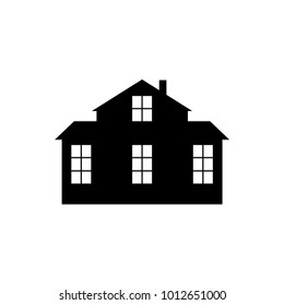House silhouette on white background