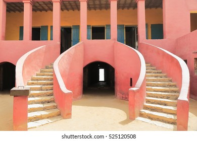 The House of Slaves-Maison des Esclaves with its Door of No Return is a memorial to the Atlantic slave trade built c.1776 and reconstructed and opened as a museum on 1962. Goree island-Dakar-Senegal.