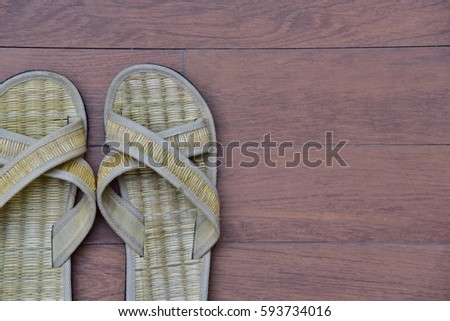 18ca26bd835 House Slippers Thai Style Small Thai Stock Photo (Edit Now ...