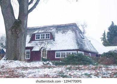 A house with snow