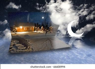house snow moon