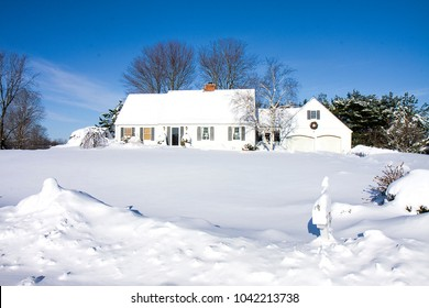 House snowed-in after blizzard