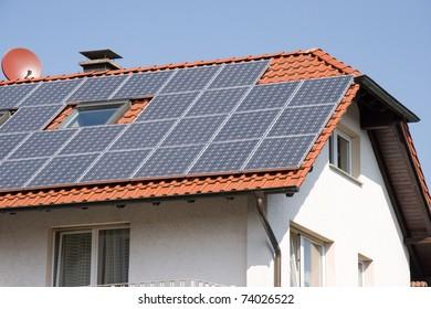 House with solar energy