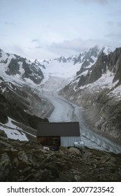 House in solitude on Chamonix Alps in France