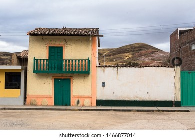 House in Square of Canchayllo, town of Juaja, Junin Peru