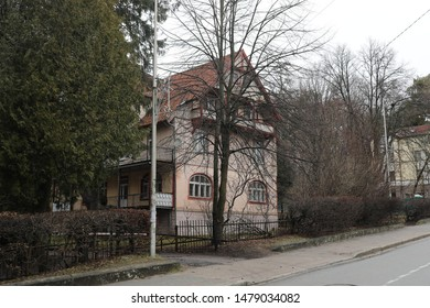 House standing in the woods