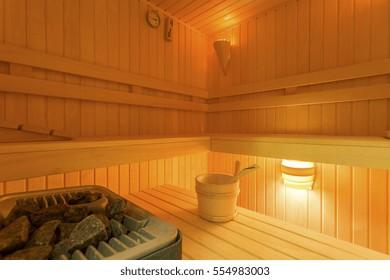 House with stylish dry sauna