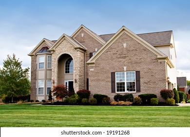 A house in a suburban neighborhood of Cleveland, Ohio.