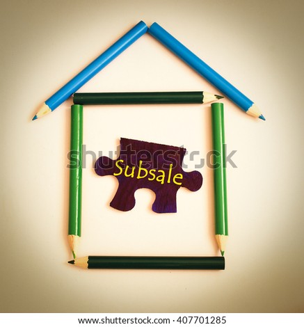 House Symbol Make Color Pencil Puzzle Stock Photo (Edit Now