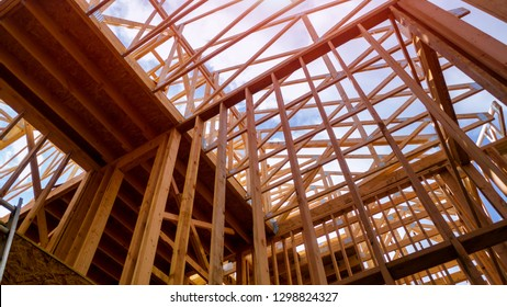 House timber frame for a progressing house a new development timber