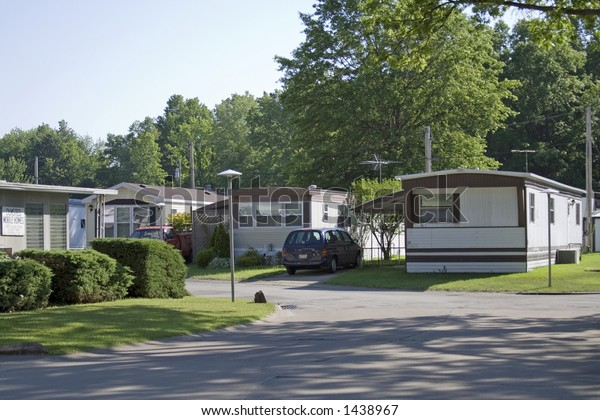 House trailer park - mobile homes in Ohio.