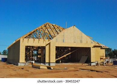 House under construction in Oklahoma.