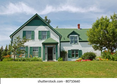 house used as location for Anne of Green Gables novels in Prince Edward Island, Canada