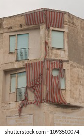 House in very poor conditions, looks abandoned, but people are still live there. South Italy, region Puglia, Massafra