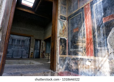 The House of the Vettii is a house located in the Roman town, Pompeii, which was preserved by the eruption of Vesuvius in 79 AD