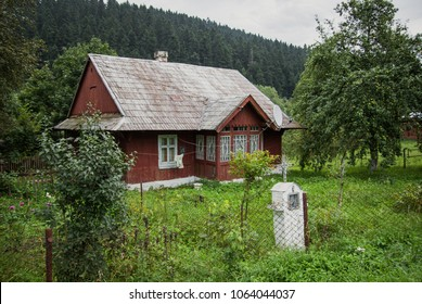 house in a village in the mountains