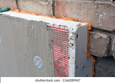 House Wall and foundation insulation with polystyrene construction structure