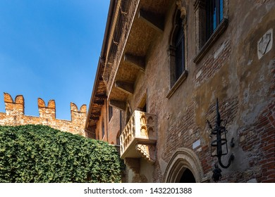 The house where, according to legend, Juliet lived from the play Romeo and Juliet