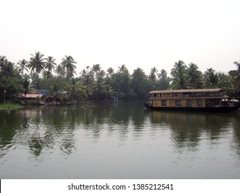 Houseboat in the Alleppey Backwaters in Kerala, India