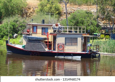Houseboat at the Murray river, South Australia
