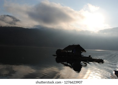 Houseboat in the river and shadow