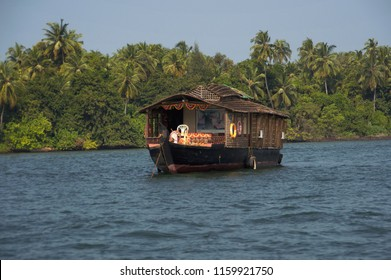 A houseboat, Tarkarli, District Sindhudurga Maharashtra India
